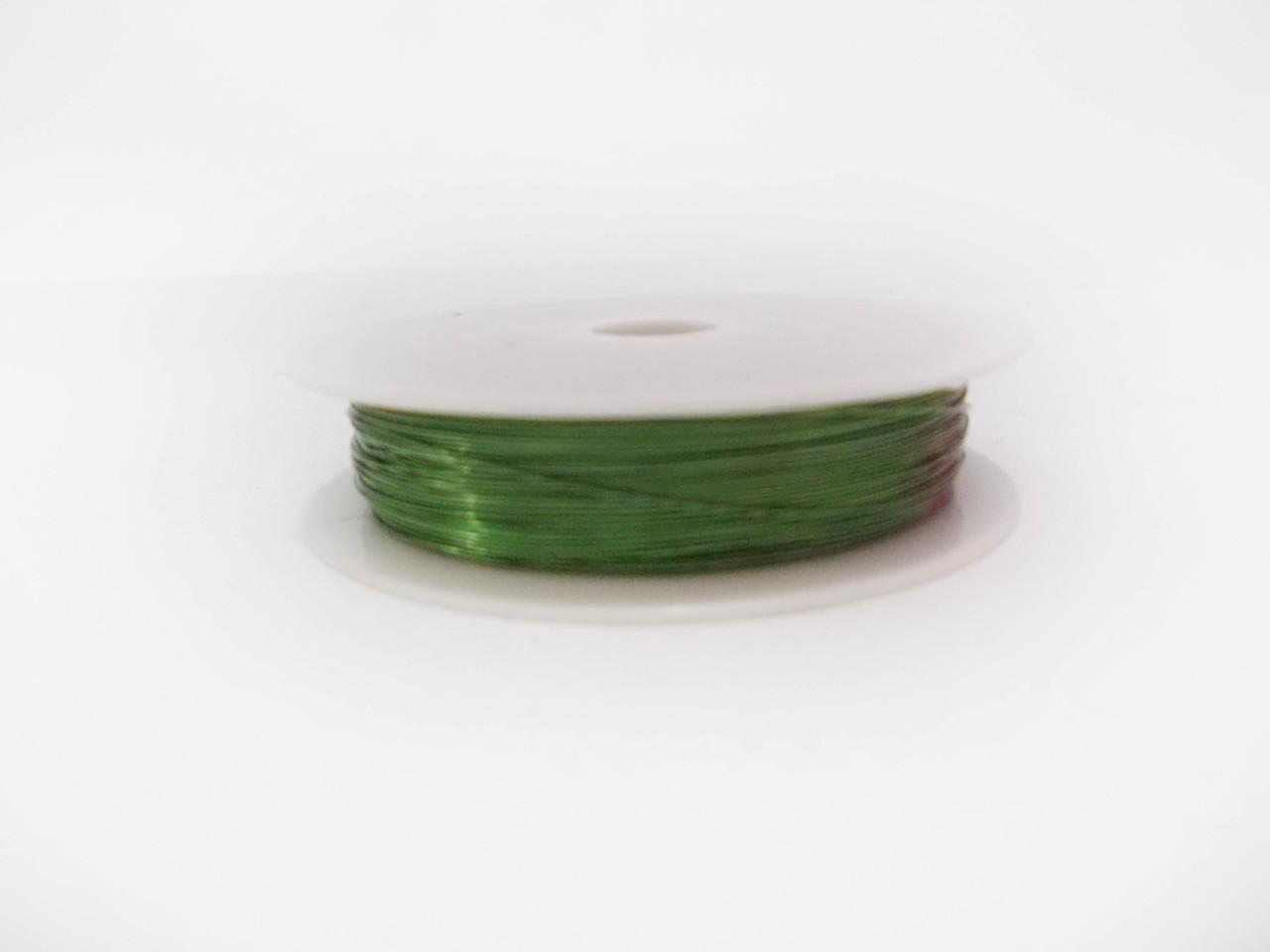 Декоративная проволока 0,3 мм светло - зеленая флористическая