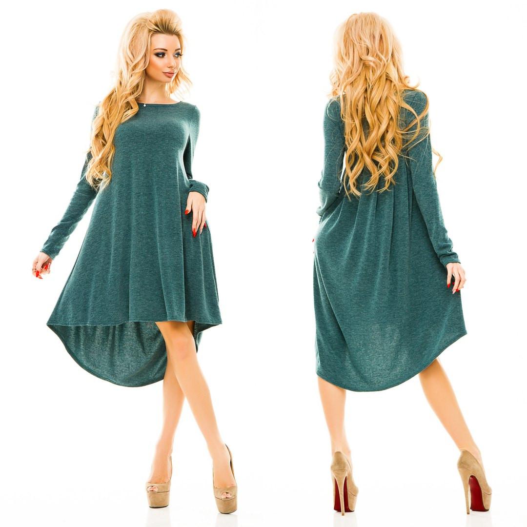 Ж163 Платье ассиметричное