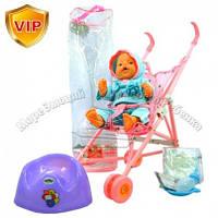 Кукла-пупс с коляской и c аксессуарами
