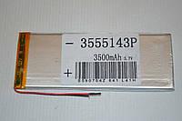 Универсальный аккумулятор (АКБ, батарея) для китайских планшетов 3.7V 3500mAh (3.5*55*143mm)