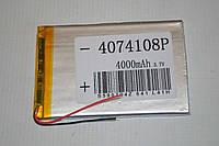 Универсальный аккумулятор (АКБ, батарея) для китайских планшетов 3.7V 4000mAh (4.0*74*108mm)