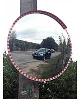 Обзорное зеркало сферическое 1000х1000 + защитный козырек