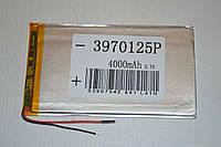 Универсальный аккумулятор (АКБ, батарея) для китайских планшетов 3.7V 4000mAh (3.9*70*125mm)