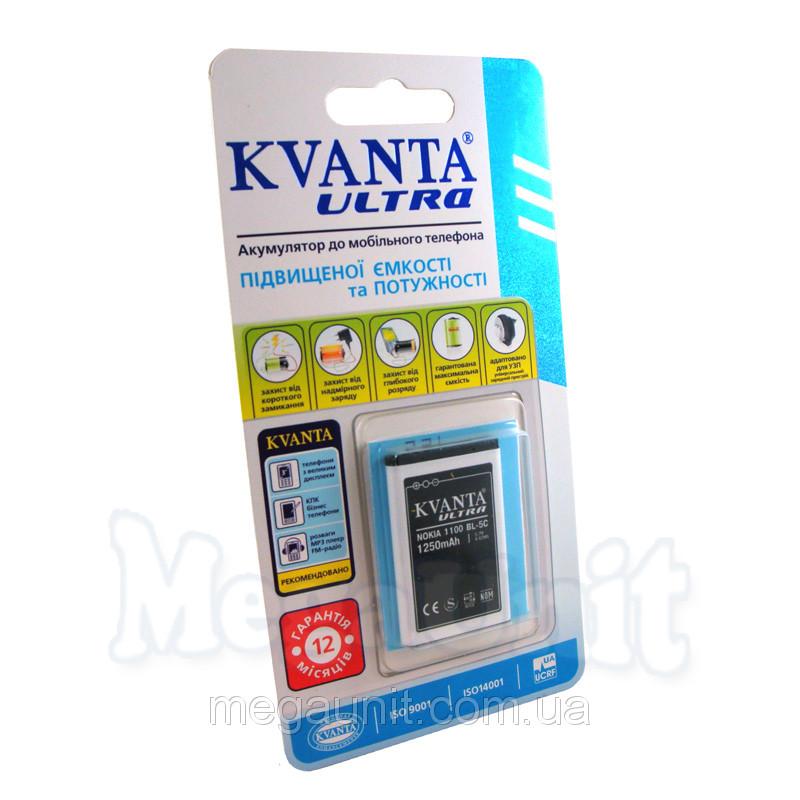 Усиленный аккумулятор KVANTA. Nokia BL-5C (1100/230/109) 1250mAh