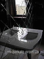 Плитка зеркальная треугольник с фацетом 10мм бронза 150*150 мм