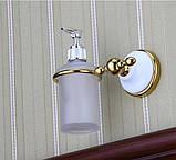 Дозатор для жидкого мыла дезинфицирующего золото настенный для ресторана кафе супермаркета магазина, фото 2