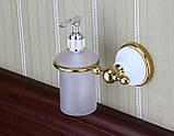Дозатор для жидкого мыла дезинфицирующего золото настенный для ресторана кафе супермаркета магазина, фото 3