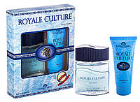 Набор мужской ( т/в 100 мл +гель для душа 100 мл) Royale Culture наб муж Lotus Valley