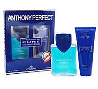 Набор мужской ( т/в 100 мл +гель для душа 100 мл) Anthony Perfect Pure Instruction наб муж Lotus Valley
