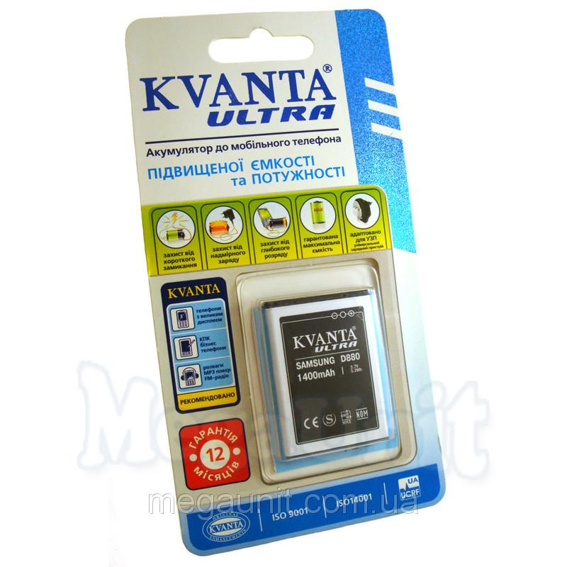 Усиленный аккумулятор KVANTA. Samsung D880 / D980 1400мАч