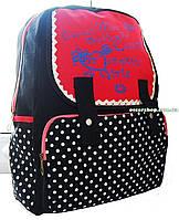 Сумка Школьный портфель. Модный рюкзак девочкам. Рюкзак в горошек. РС1