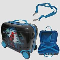 Детский чемодан на 4 колесах Spiderman 40*28*19 7548-SP
