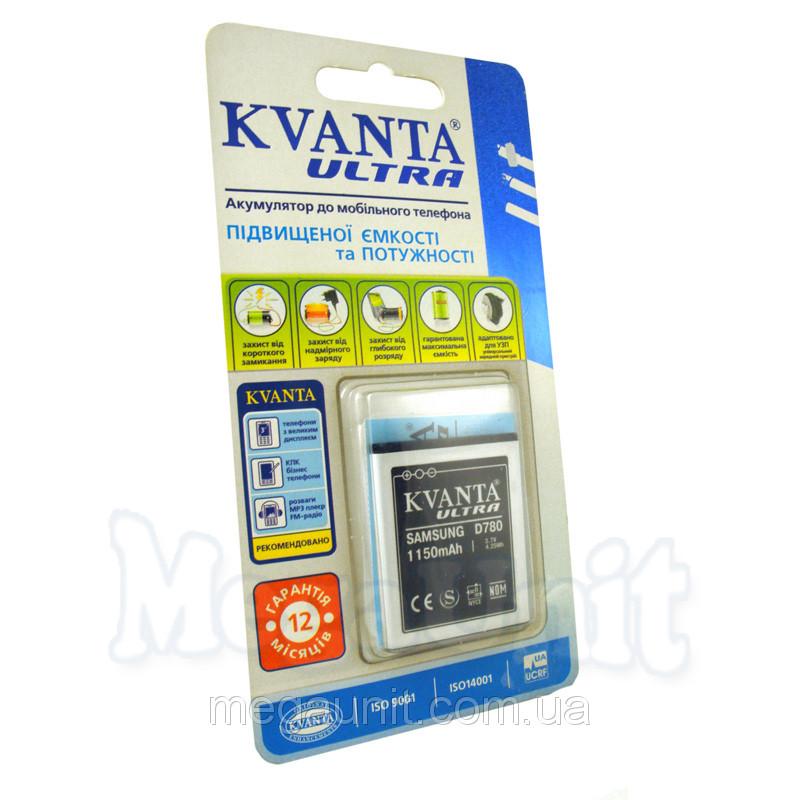 Усиленный аккумулятор KVANTA. Samsung D780 (G810,I8510) 1150мАч