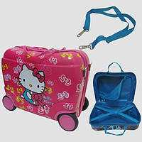 Детский чемодан на 4 колесах Hello Kitty 40*28*19 7548-KT