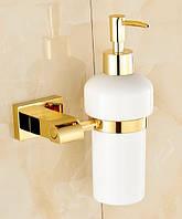Дозатор для жидкого мыла дезинфицирующего золото настенный для ресторана кафе супермаркета магазина, фото 1