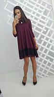 Женское платье Разлетайка с кружевной полосой снизу
