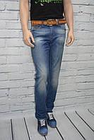 Классические джинсы мужские Davito 078-257 Турция синие с потертостями размер 31, 34