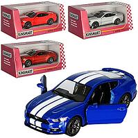 """Машинка металлическая KT 5386 WF, """"Ford Mustang GT"""", инерционная, 12 см, двери открываются, колеса резина"""