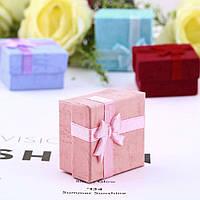 Коробочка для кольца праздничная подарочная 4 цвета