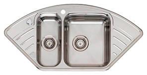 Мойка кухонная угловая из нержавеющей стали Reginox Empire 15 Lux (витрина)