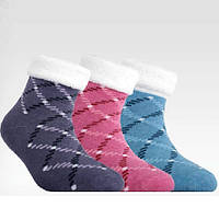 Детские махровые носки Sof-tiki девочка антискользящие с отворотом р.12-14