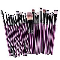 Набор 20 шт кисти для макияжа пурпурные фиолетовые ручки