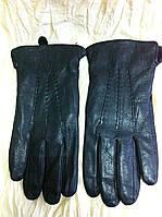 Перчатки мужские из кожи подкладка плюш