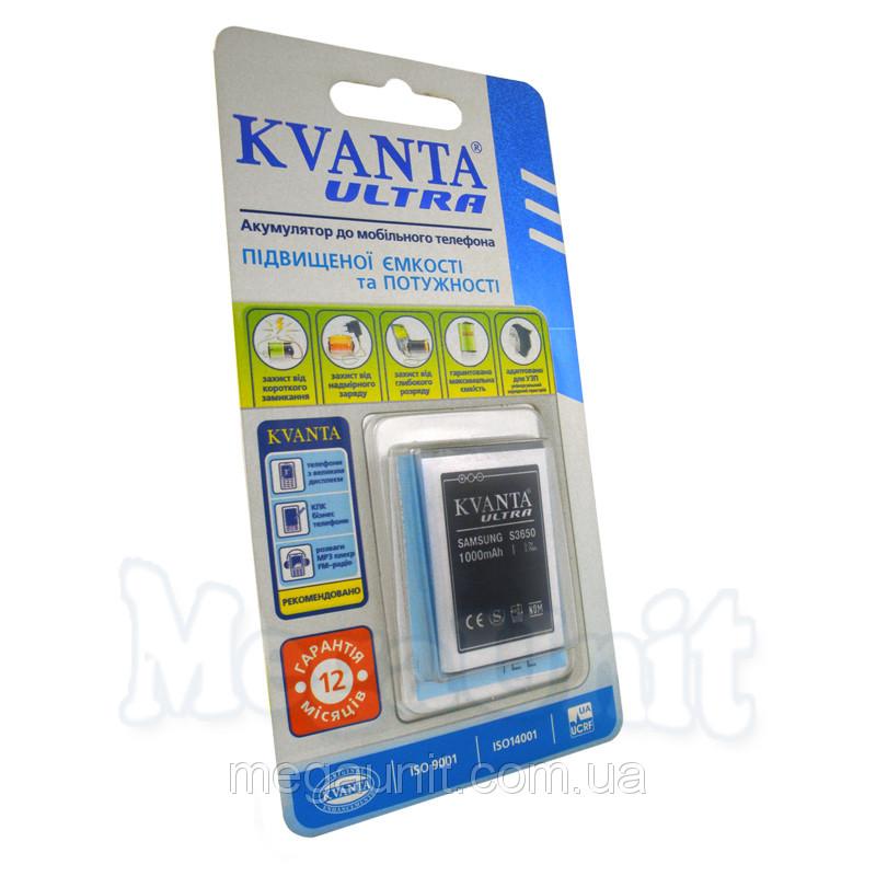 Усиленный аккумулятор KVANTA. Samsung S3650 ( B3410 ) 1000мАч