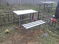 Стол на могилу из метала.