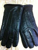 Перчатки мужские из кожи и меховой подкладкой