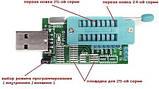 USB программатор для SPI FLASH Bios EEPROM для 24 и 25 серии на чипе CH341A, фото 5