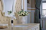 Смеситель кран белый однорычажный в ванную комнату для умывальника, фото 4