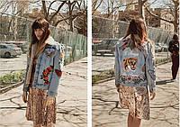 Джинсовая женская куртка R11, фото 1
