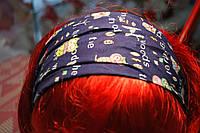 Повязка бандана для волос. Синяя.
