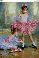 """Схема для вышивки бисером """"Балерины"""""""