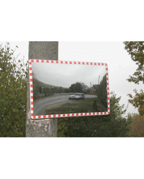Сферическое дорожное зеркало (прямоугольное, 450х800)