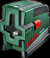 Лазер с перекрёстными лучами с функцией отвеса Bosch PCL 20 - Basic