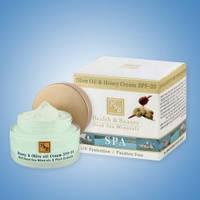 Крем для лица оливковый с прополисом SPF-20 H&B Израильская косметика