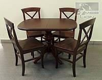 Обеденная группа Стол + 4 стула, цвет орех, орех итальянский