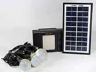 Туристический фонарь на солнечных батареях GD 8076, 3 LED-лампы, комплект переходников на 10 разъемов