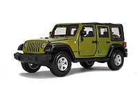 Игрушечные машинки и техника «Bburago» (18-43012) Jeep Wrangler Unlimited Rubicon, 1:32 (зеленый металлик)