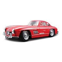 Игрушечные машинки и техника «Bburago» (18-22023) Mercedes-Benz 300 Sl 1954, 1:24 (красный)