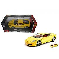 Игрушечные машинки и техника «Bburago» (18-26009) Ferrari F430 Fiorano, 1:24 (желтый)