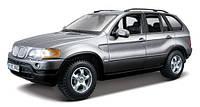 Игрушечные машинки и техника «Bburago» (18-22001) BMW X5, 1:24 (серый металлик)