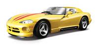 Игрушечные машинки и техника «Bburago» (18-22024) Dodge Viper RT/10, 1:24 (желтый)