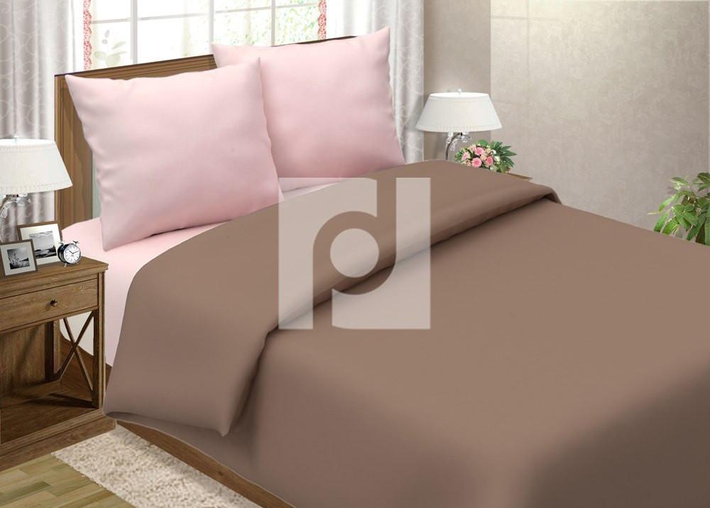 Постельное белье Мокко + Роза поплин ТМ Царский дом  (Двуспальный)