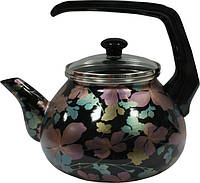 Чайник 2,2 л Чёрный клематис 2403