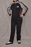 Теплый комбинированный спортивный костюм женский