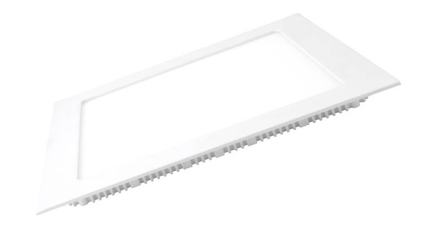LED Светильник EUROLAMP квадратный Downlight 12W 3000K, фото 2