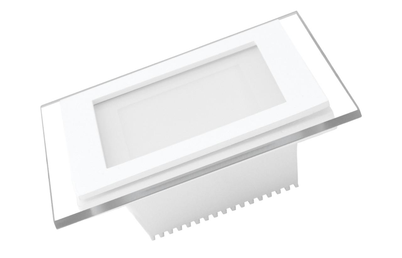Светильник светодиодный встраиваемый EUROLAMP GLASS Downlight 6W 3000K (LED-DLS-6/3(скло))